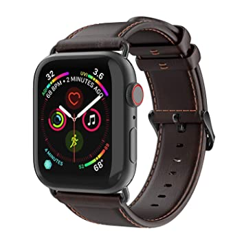 Aottom Correa de piel para Apple Watch Series 4 40mm ...