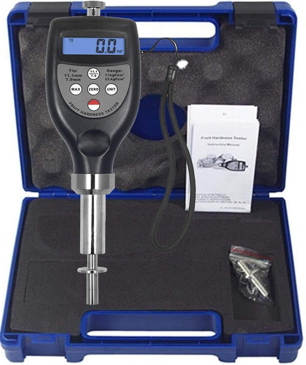 VTSYIQI Digital Fruit Penetrometer Hardness Tester Firmness Tester Sclerometer Hardness Tester for Vegetables Fruits include RS-232C data cable with software