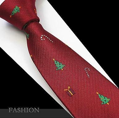 Sunonvi Corbata roja de Navidad Corbatas de muñeco de nieve de 7 ...