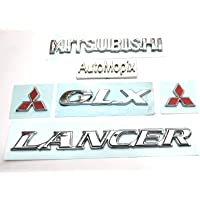 AutoMopix Premium Quality Mitsubishi Lancer GLX Monogram/Emblem/Badge/Logo