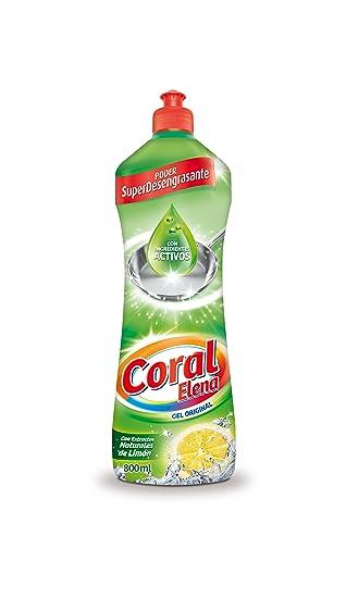 Coral Lavavajillas a Mano - 9 Paquetes de 800 ml - Total: 7.2 l