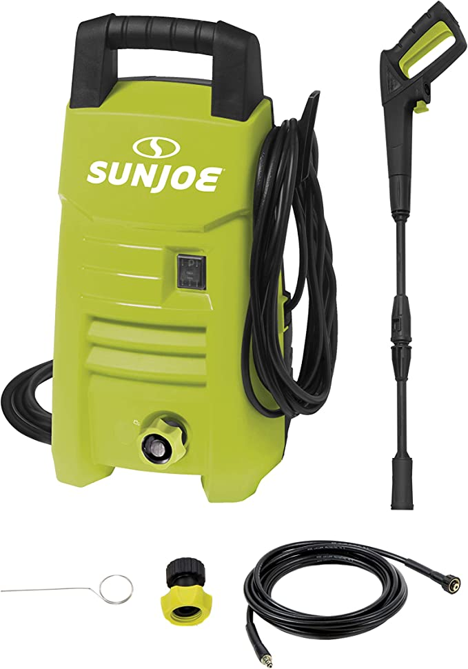 Sun Joe SPX201E 1350 PSI 1.45 GPM 10-Amp Electric Pressure Washer Renewed Green