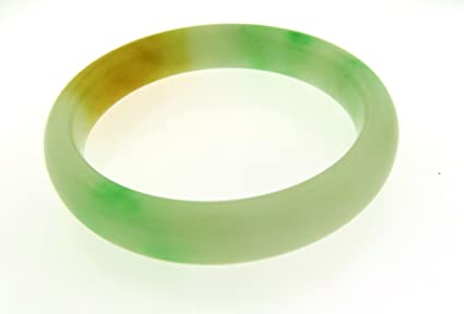 Amazon Com Multi Color Jade Bangle Bracelet Genuine Chinese 57mm 7