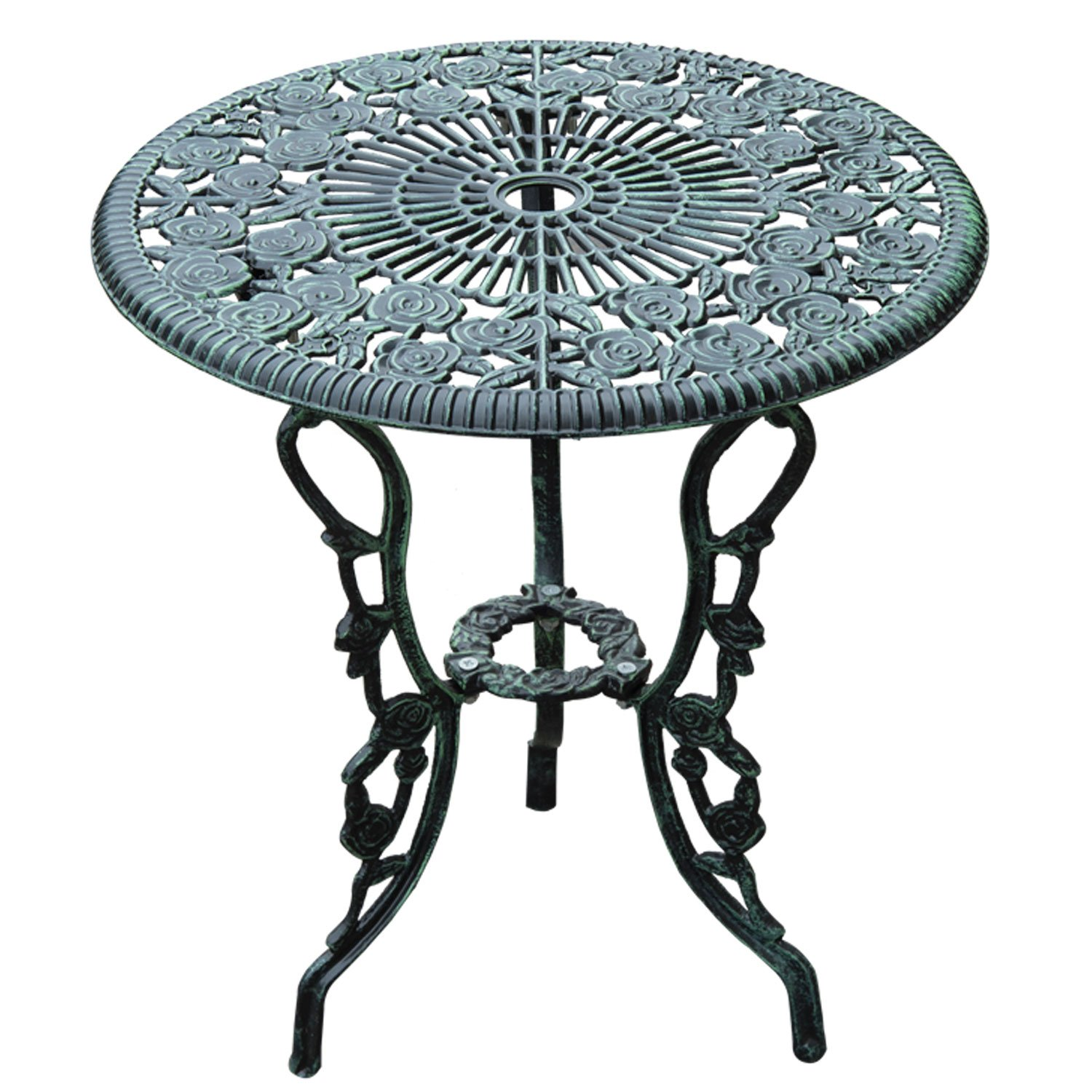 terrace furniture iron wrought chair and patio table on