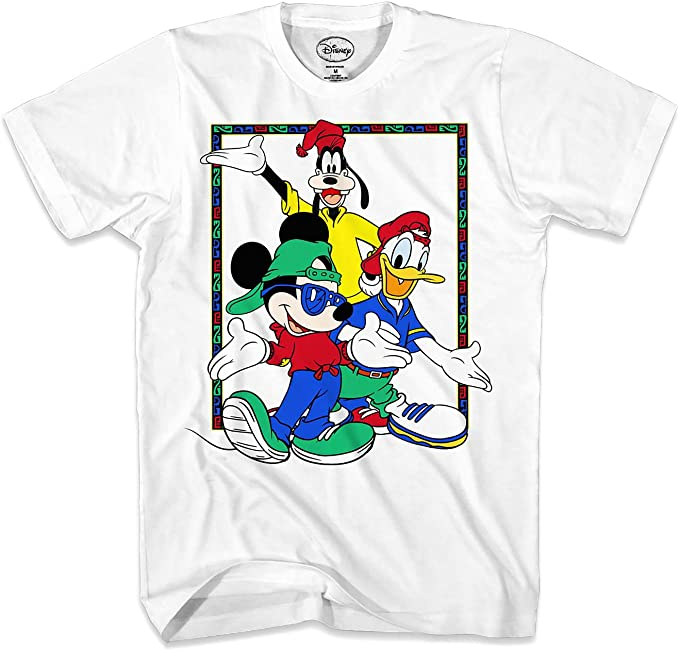 Disney Mickey Mouse Donald Duck Goofy 90's Group Pose Men's T shirt