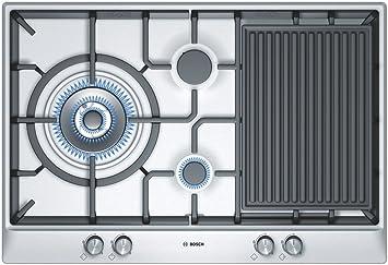 Bosch PCX815B90E hobs - Placa (Incorporado, Gas, Acero ...