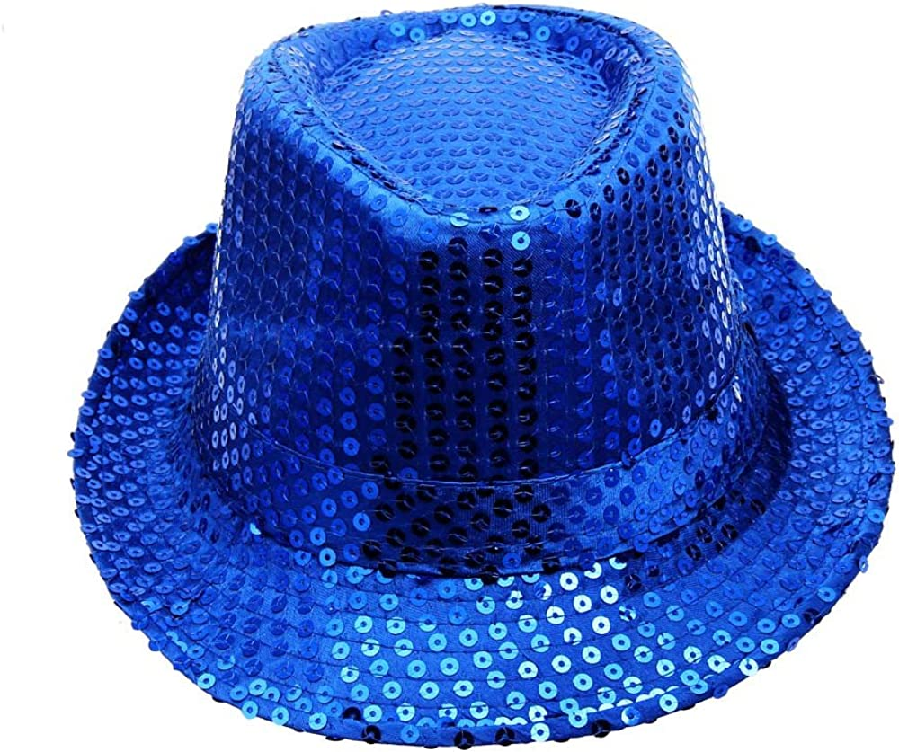 DORIC 2019 Sequined Hat Hat Hat Dance Stage Show Performances Solid Color Relaxed Adjustable