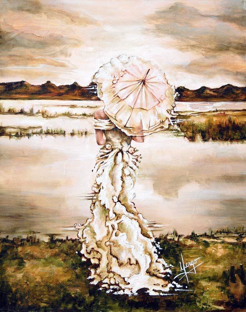 Amazon Com Canvas Wall Art Contemplation Reproduction On Canvas Handmade