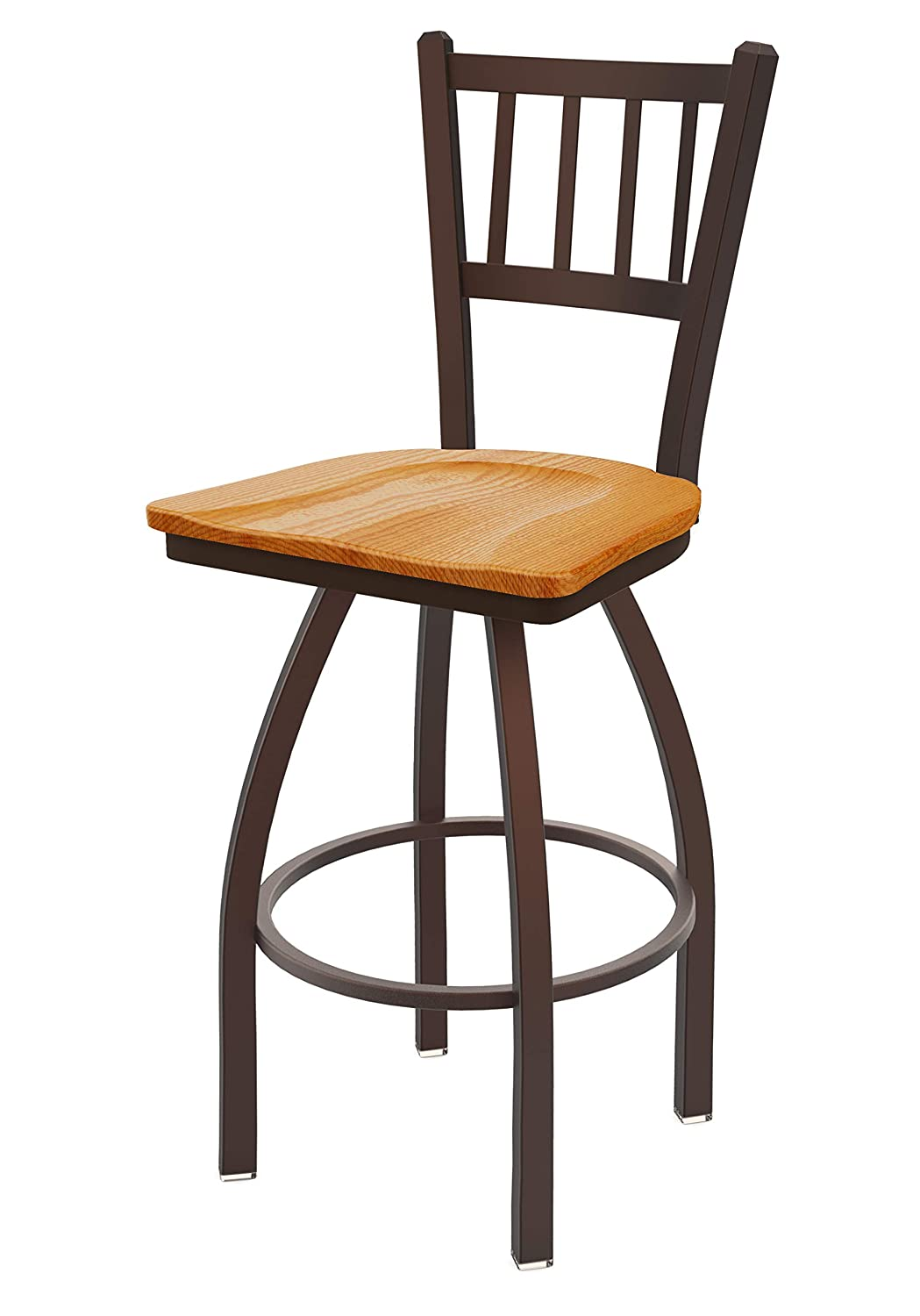 Holland Bar Stool Co. 81025BZMedOak 810 Contessa Counter Stool, 25 Seat Height, Medium Oak