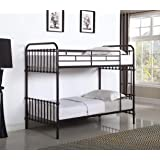 Amazon Com Kid S Bunk Bed Frame Wrought Iron Cast Metal