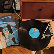 Giradiscos dl Record Player de 3 Velocidades 33/45/78 Reproductor de Discos Portátil de Madera con Maleta Vintage con Altavoces Estéreo Incorporados, ...