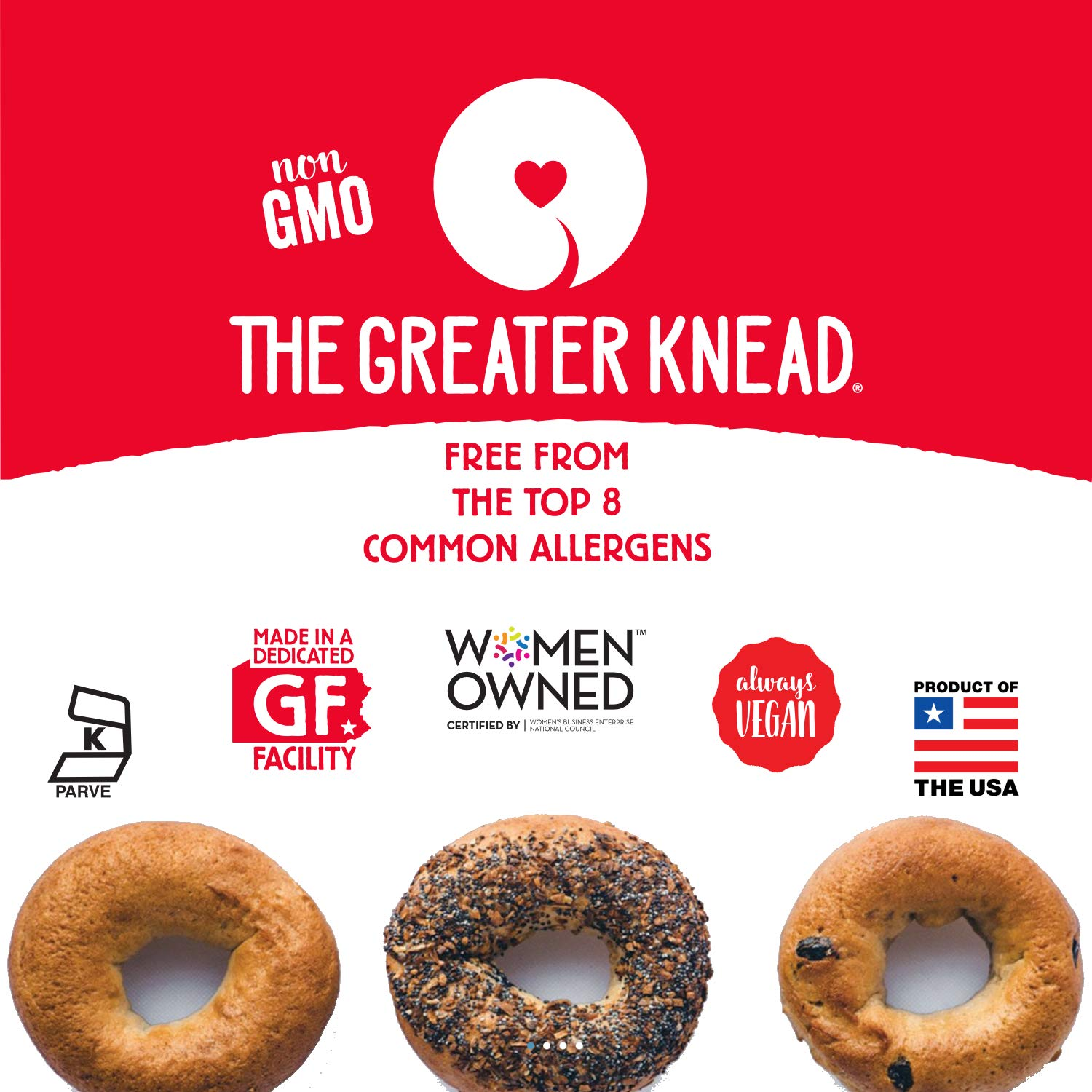 Greater Knead Gluten Free Bagel - Cinnamon Raisin - Vegan, non-GMO, Free of Wheat, Nuts, Soy, Peanuts, Tree Nuts (12 bagels) by The Greater Knead (Image #6)