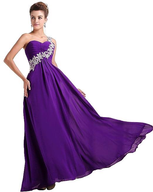 EnjoyBridal de la mujer a-line vestido Morado violeta Talla De Encargo