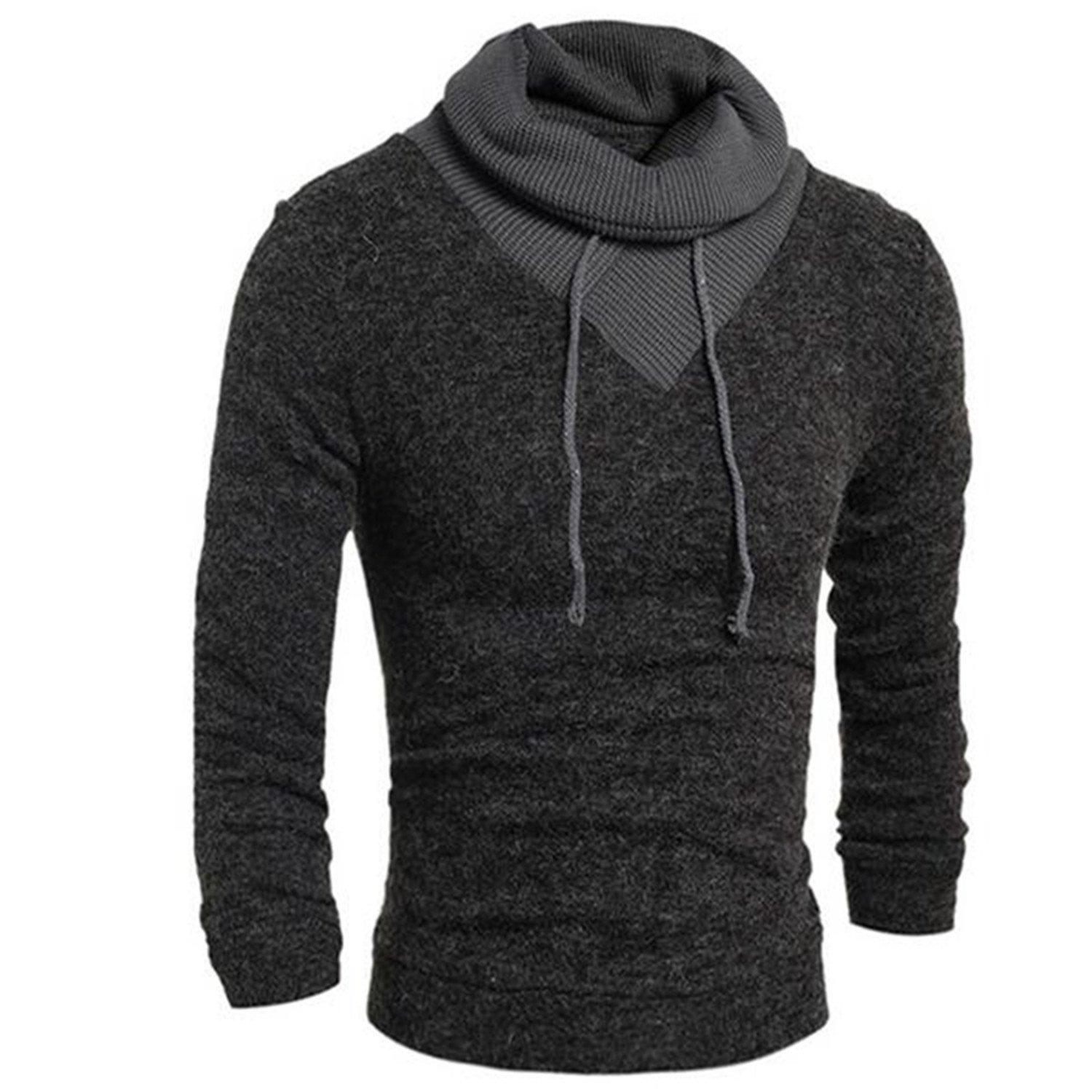 Beautifullight Cool Men Fashion Winter Coats Long Sleeve Hoodie Mens Outer Wear Casual Slim Sweatshirts Turtleneck Mens at Amazon Mens Clothing store: