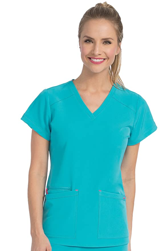 c50faa2ce8d Amazon.com: Med Couture Women's 'Air Collection' V-Neckline Sky High Scrub  Top: Clothing