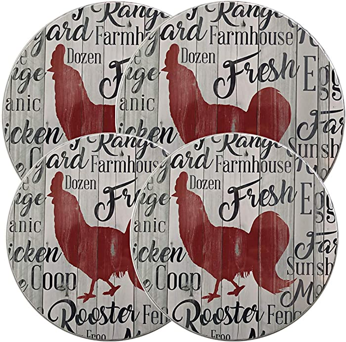 Top 9 Checkerboard Rooster Decor