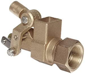 """Robert Manufacturing RF605T High Turbo Series Bob Red Brass Float Valve, 1"""" NPT Female Inlet x FreeFlow Outlet, 110 gpm at 85 psi Pressure"""