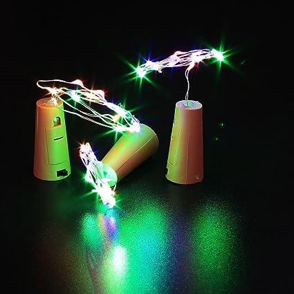 Amazon.com: 3 unidades de lámparas LED para tapón de vino ...