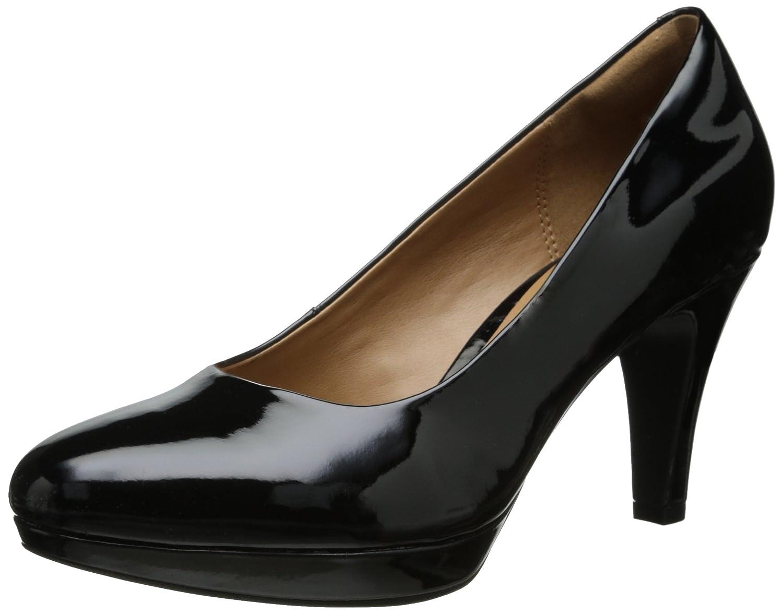 CLARKS Women's Brier Dolly Dress Pump B00HSHIXUM 5.5 B(M) US|Black Synthetic