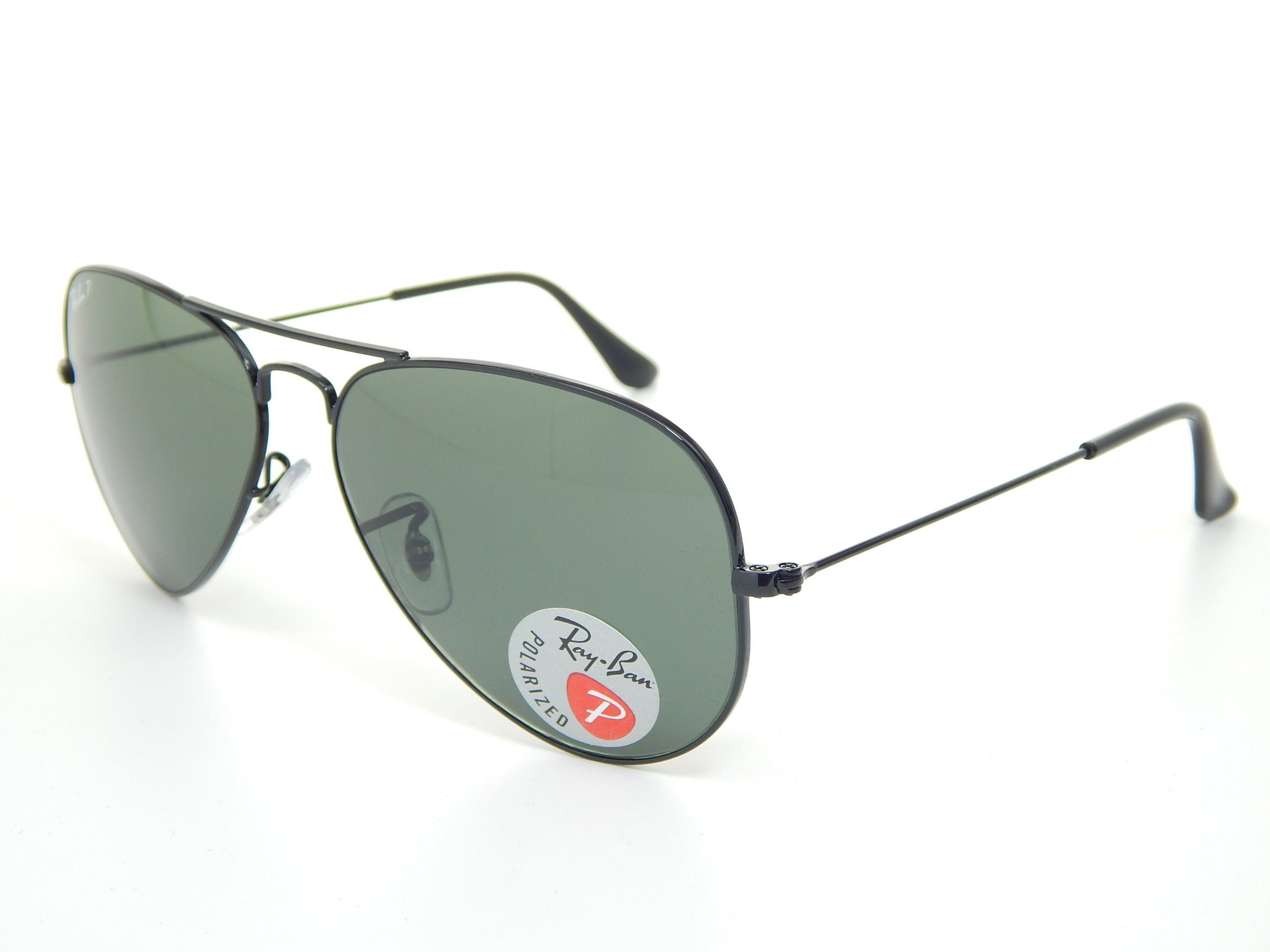 c2b8950844 New Ray Ban RB3025 002 58 Aviator Black G-15 XLT Polarized 55mm Sunglasses  Apparel