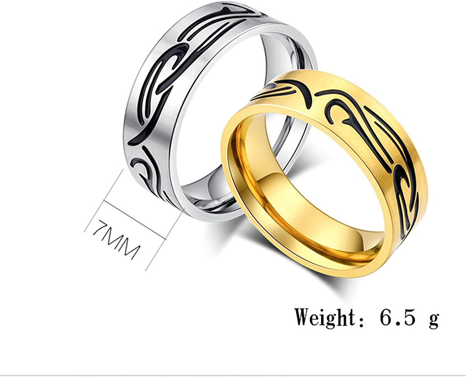 Bishilin 4mm Stainless Steel Wedding Bands for Men Silver Matte Engagement Rings Size:6.5