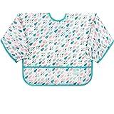 """Bumkins - Babero de forro polar para bebé, impermeable, lavable, Prints, Raindrop, 5"""""""