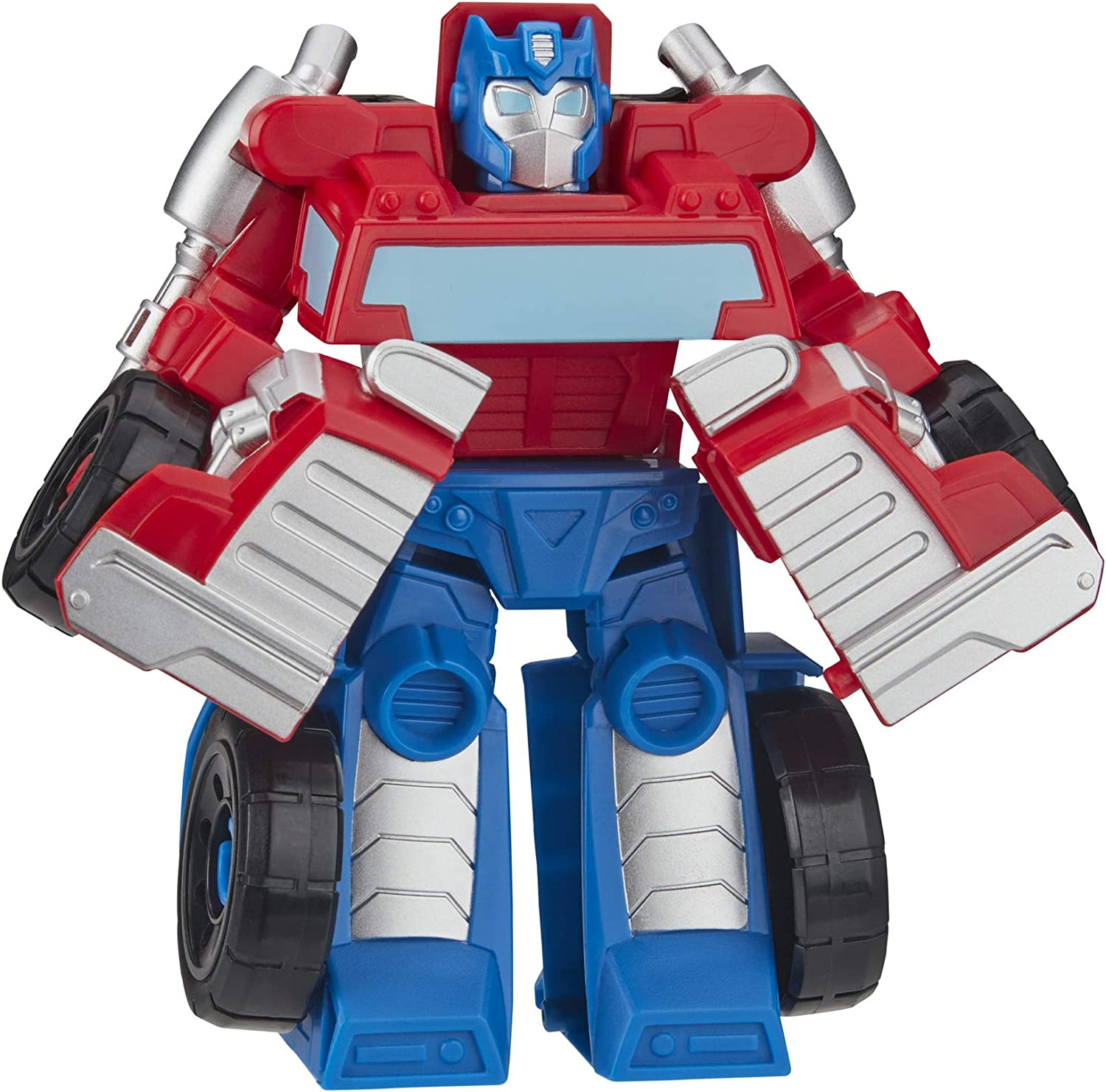 Transformers Playskool Heroes Rescue Bots Academy Optimus Prime Converting Toy, 4.5-Inch Action Figure, Toys for Kids Ages 3 and Up