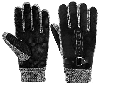 STZHIJIA Gloves Hombres Guantes De Invierno Cálidos Guantes Al ...