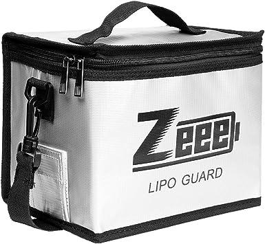 explosionsgesch/ützte Tasche Gro/ßraum-Lipo-Akku-Aufbewahrungsbox Schutztresortasche zum Laden und Aufbewahren Zeee Lipo Safe Bag Feuerfeste