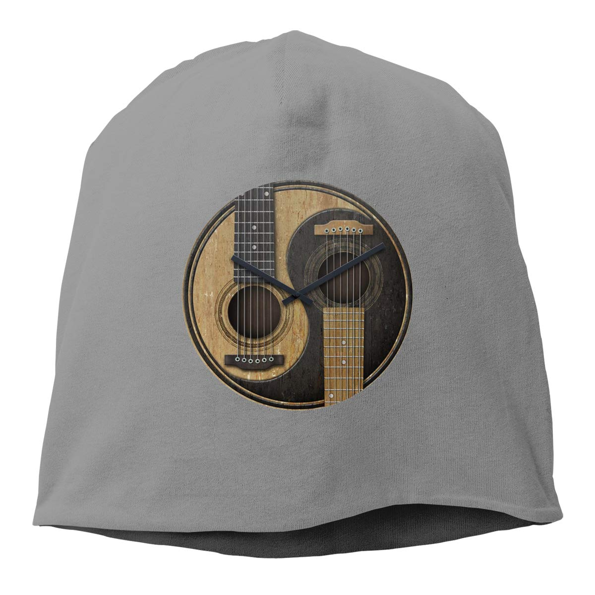 Old and Worn Acoustic Guitars Yin Yang Unisex Knitted Hat Beanie Hat Warm Hats Skull Cap