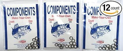Stainless Steel Split Rings 12 pack