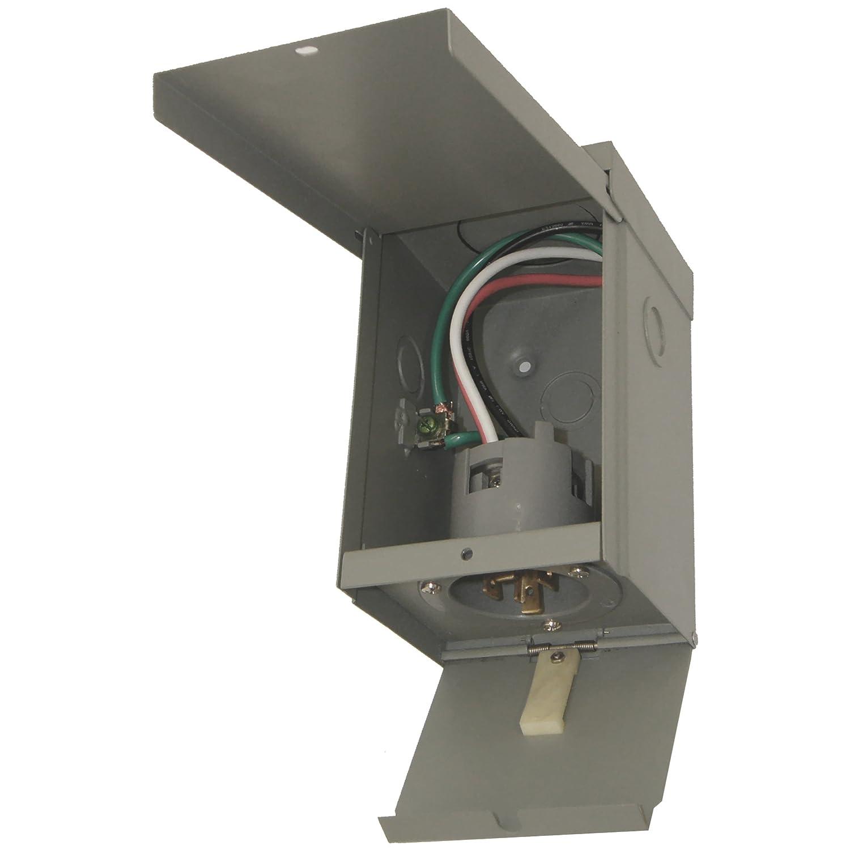 Connecticut Electric 30 Amp Power Inlet Box With Hinged Pb30 Wiring Diagram Door Garden Outdoor