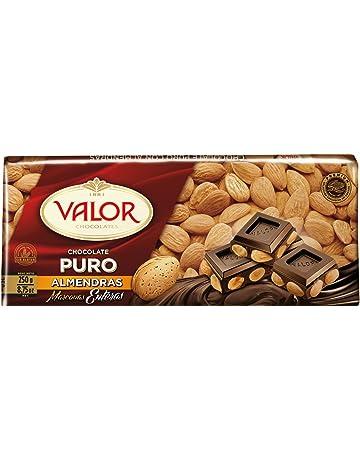Valor Chocolate Puro con Almendras y Marconas Enteras - 250 g