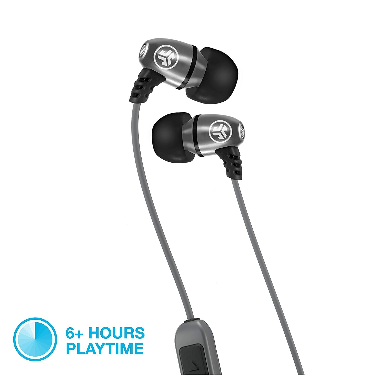 JLab Audio Metal Bluetooth Wireless Rugged Earbuds   Titanium 8mm Drivers    6 Hour Battery Life   Noise Isolation   Bluetooth 5 0   IP55 Sweat Proof