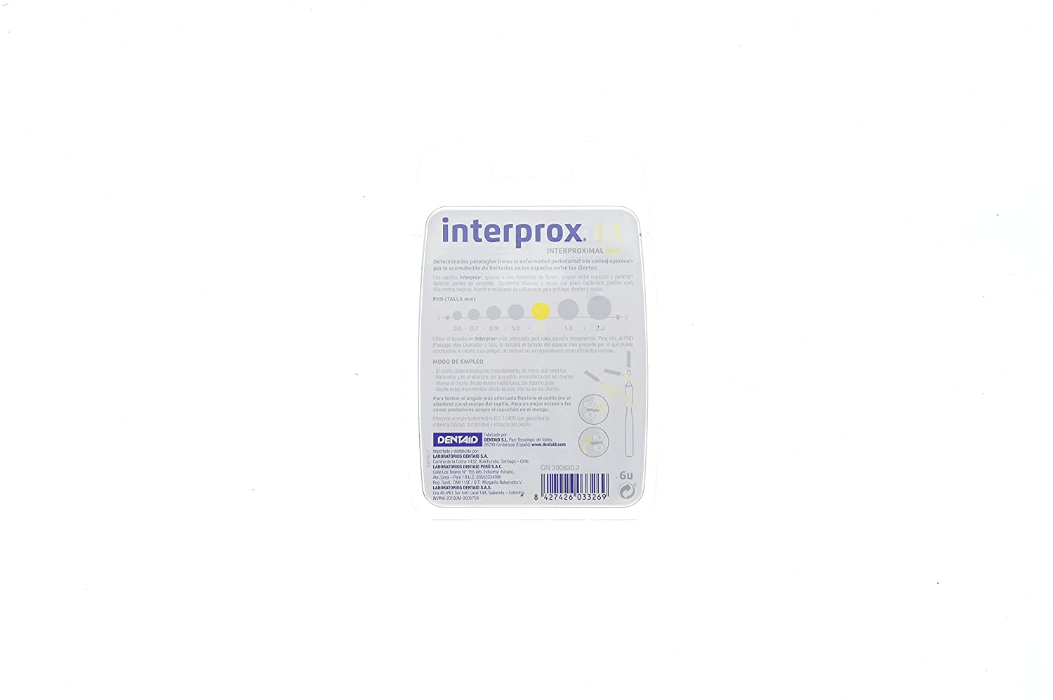 Amazon.com: Interprox 1.1 Interproximal Mini 6 Units: Health & Personal Care