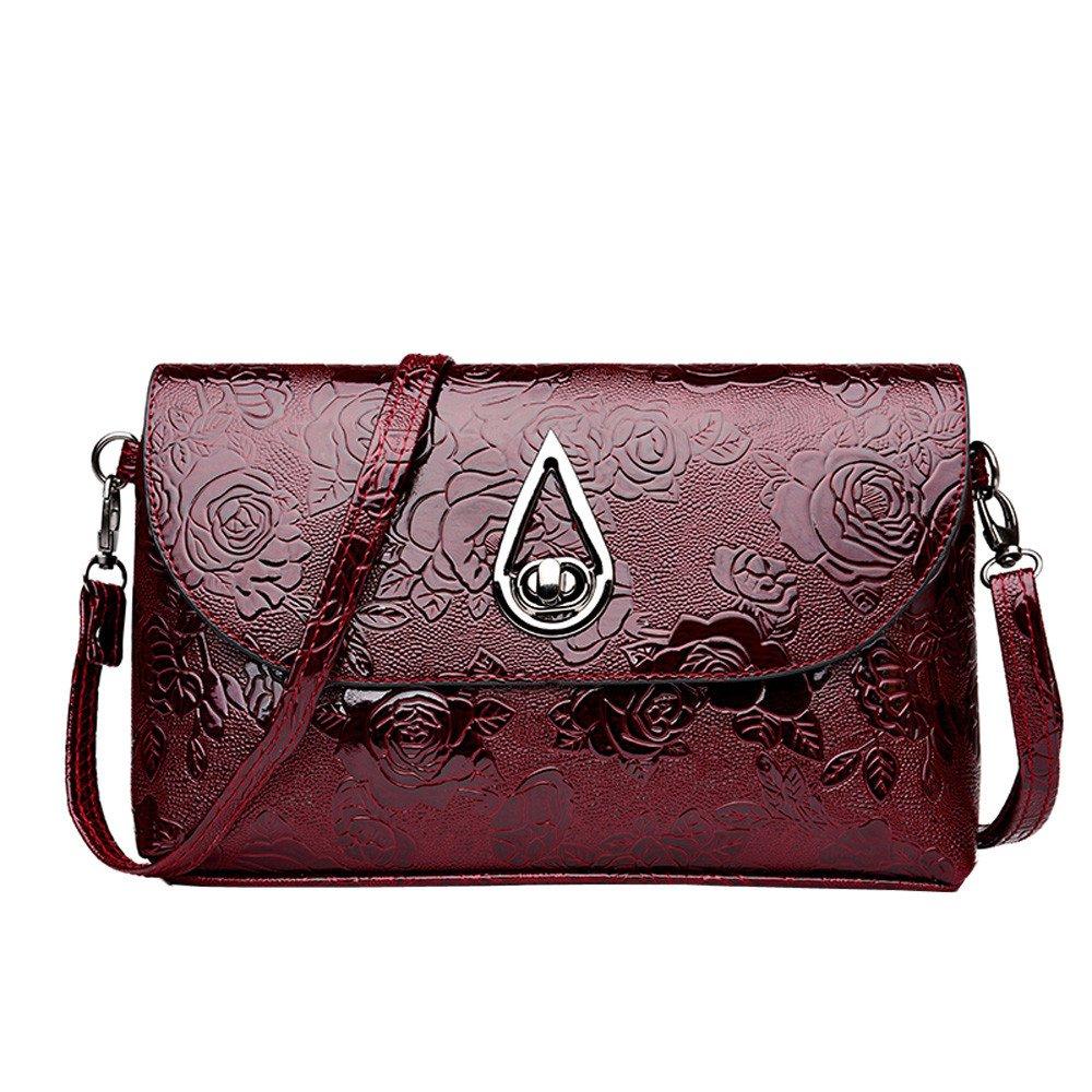 9e8a6c874c00 hot sale Promotion!Leather Crossbody Bag,Rakkiss Women Flower ...