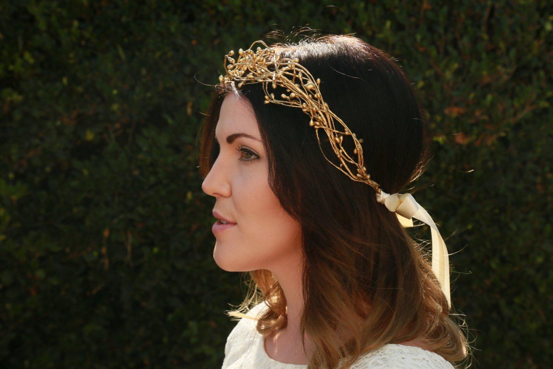 Amazon Gold Head Wreath Renaissance Crown Handmade