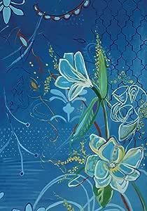 Toland Home Garden Magnolia on Blue 28 x 40 Inch Decorative Artistic Floral Flower Design House Flag