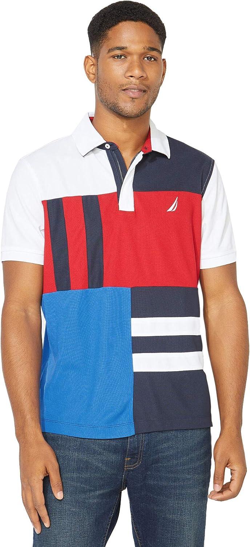 Nautica Mens Big /& Tall Logo Navtech Pique Classic Fit Polo