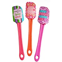 Kitchen Fun Expression Spatulas 3 Pack - Stocking Stuffers, Cooking, Gifts, Kitchen Tools