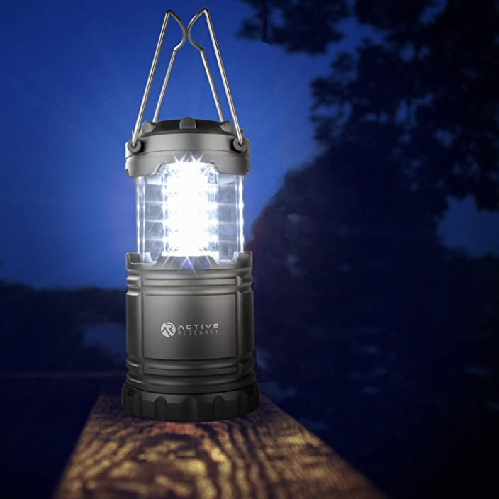 Active Research Water Resistant LED Lantern Portable 30 LED Flashlight