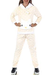 L699 Damen Hausanzug Homewear Schlafanzug Teddyanzug Pyjama Plüsch 2-Teiler