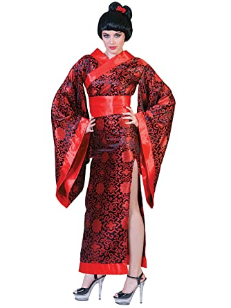 Summitfashions Sexy Black and Red Geisha Costume Womens Long Kimono with High Leg Slit Sizes  sc 1 st  Amazon.com & Amazon.com: Summitfashions Sexy Black Red Geisha Costume Womens Long ...