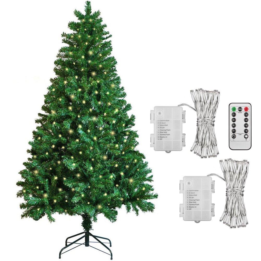 1.8M( 6FT) Christmas Tree + [2 Pack] 40 LED Battery Fairy Lights Warm  White: Amazon.co.uk: Kitchen U0026 Home