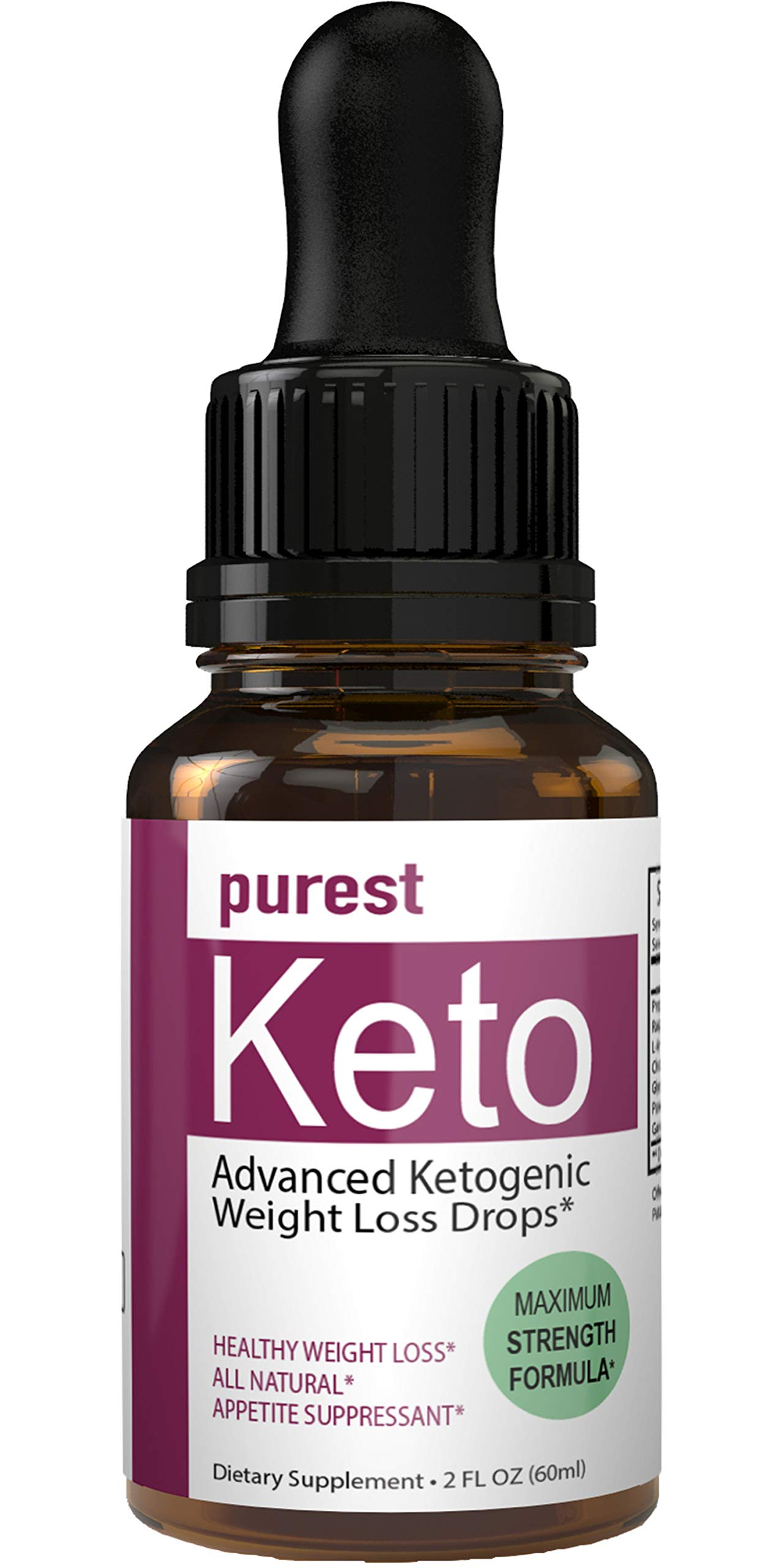 Purest Keto Appetite Suppressant Drops Liquid Fatburner Weight Loss Drops | Control Hunger Weight Loss Supplement Appetite Suppressant Naturally Formulated Fat Burner Diet Plan Quick Weight Loss by nutra4health LLC