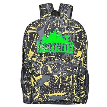Qemsele Popular Fortnite Escolar Mochila para Niño y Niña Moda Luminoso Mochilas de Viaje Backpack Adolescentes Rucksack Casual Impresión Daypack Bolsas: ...