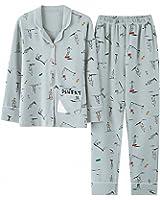 Autumn Winter Pajamas Sets Soft Comfortable Printing Home Suit Women Cotton Pyjama Sleepwear Plus Size Pajamas