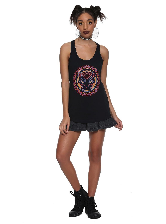 Her Universe Marvel Black Panther Logo Girls Tank Top