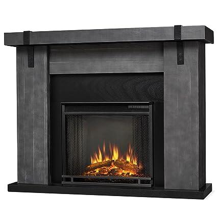 Astonishing Amazon Com Real Flame Aspen Electric Fireplace Barn Wood Home Remodeling Inspirations Genioncuboardxyz