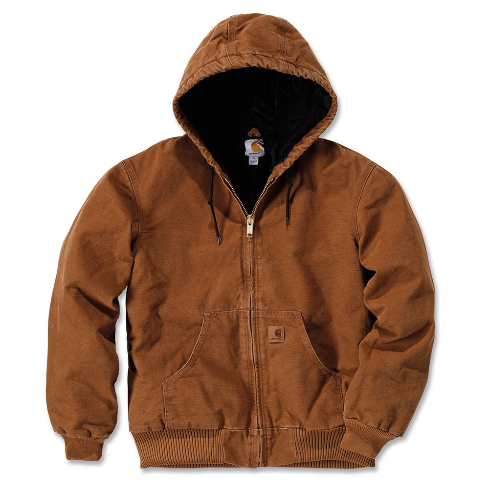 Carhartt Men's Quilted Flannel Lined Sandstone Active Jacket J130, Brown,Large by Carhartt